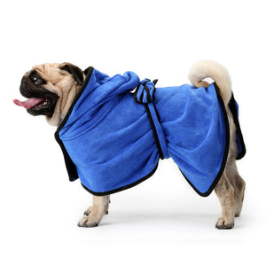 Bathrobe Dog Pajamas QBLEEV Blue