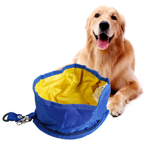 Qbllev foldable dog travel bowl