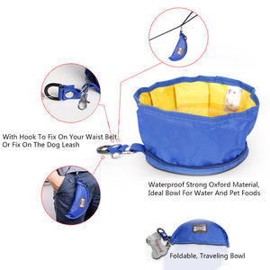 design of Qbllev foldable dog travel bowl