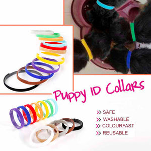 Qbleev 12 PCS/Set Soft Dog ID Collars For Puppy And Kitten