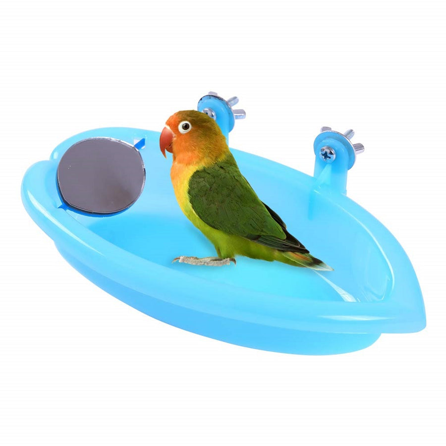 QBLEEV Bird Baths Tub with Mirror Hanging Bathing Box