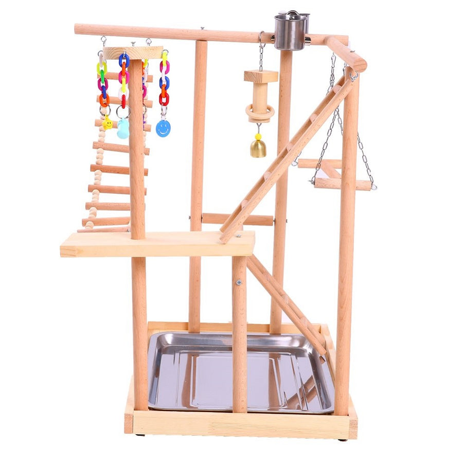 QBLEEV Bird Perches Nest Parrot Playground Play Stand Gym