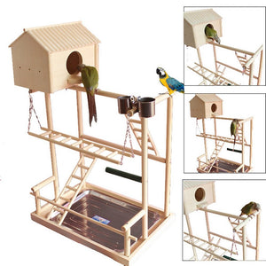 Bird Perches Play Stand Gym Playground with Nest