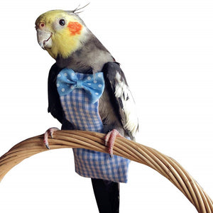 QBLEEV-Bird Parrot Diaper Flight Suite Liners