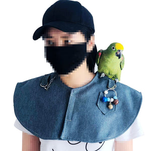 Parrot Anti-Scratch Shoulder Protector Parakeets Shoulder Pad Diaper can Hang Bird Anklet&Toys