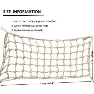 The size information of Climbing Net Rope for Bird