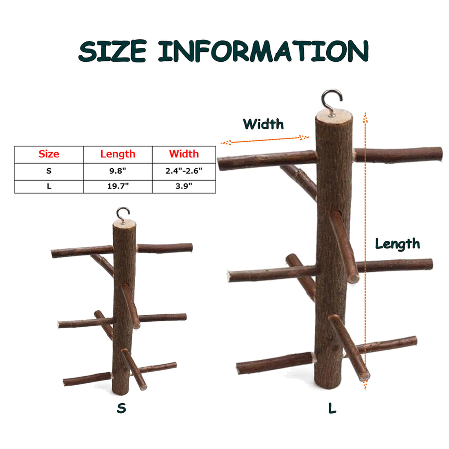 BIRD PERCH TREE SIZE INFORMATION