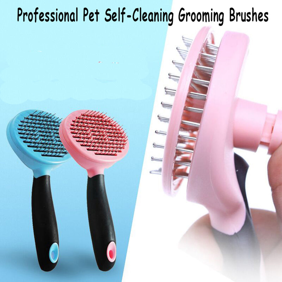 Professional Pet Self-Cleaning Grooming Brushes
