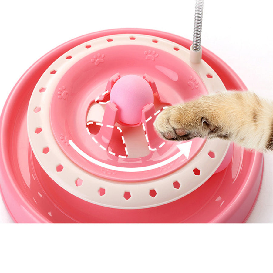 Cat Toy Roller ,With 2-Level Tower Ball & Track