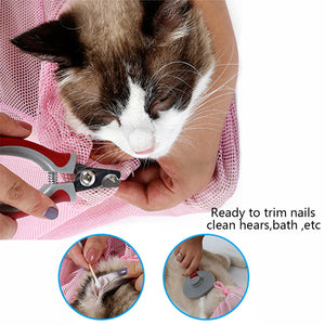 Cat shower bath bag Cat Grooming No Scrathcing bag