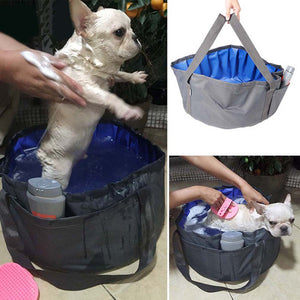 Cat Bath Portable Outdoor Folding Bath Swimming Pool