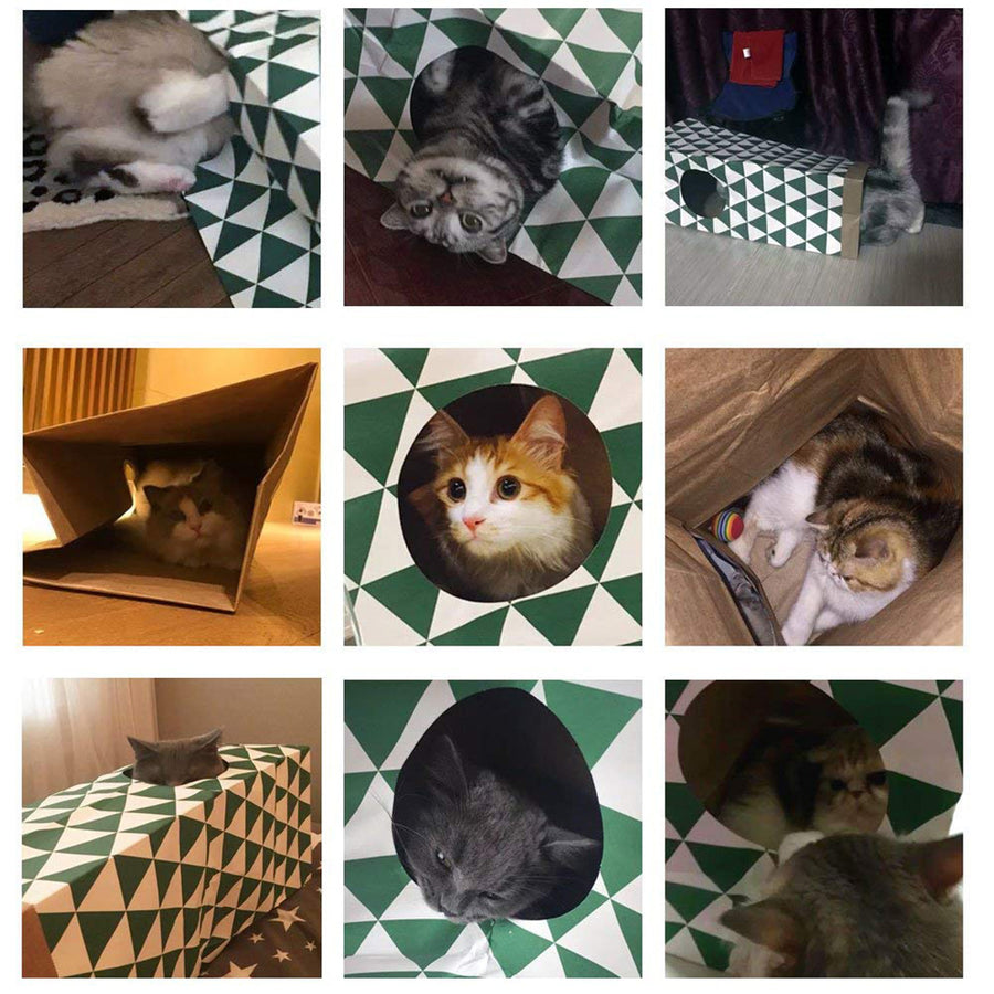 Cat Paper Tunnel, Hide  House Toy
