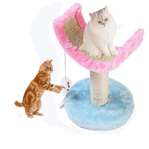 Cat Toys Kitty Climbing Frame Scratch Sisal Cardboard