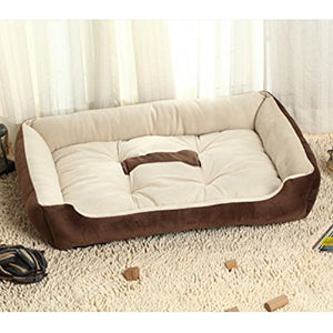 memory foam dog bed brown QBLEEV