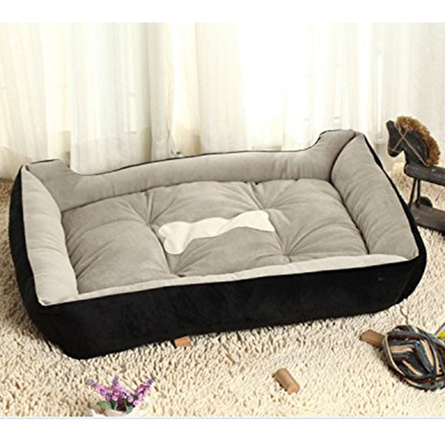memory foam dog bed black QBLEEV