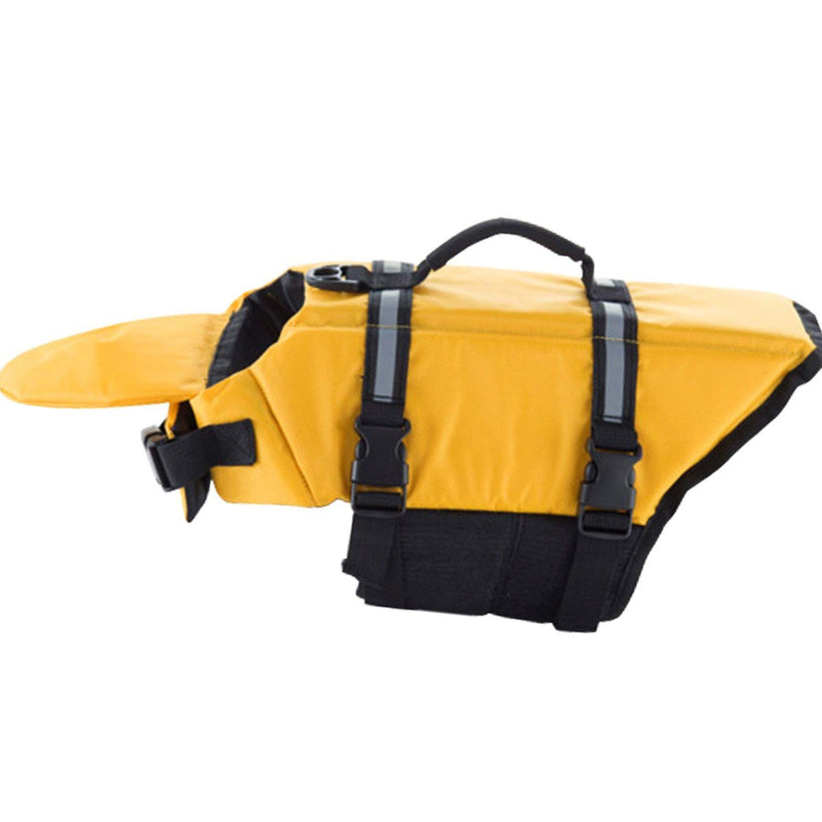 Dog Life Jacket With Extra Padding Chin Float in Reflective Yellow Color