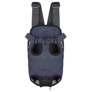 Denim Dog Backpack Carrier Black Suitable For The Front Pack