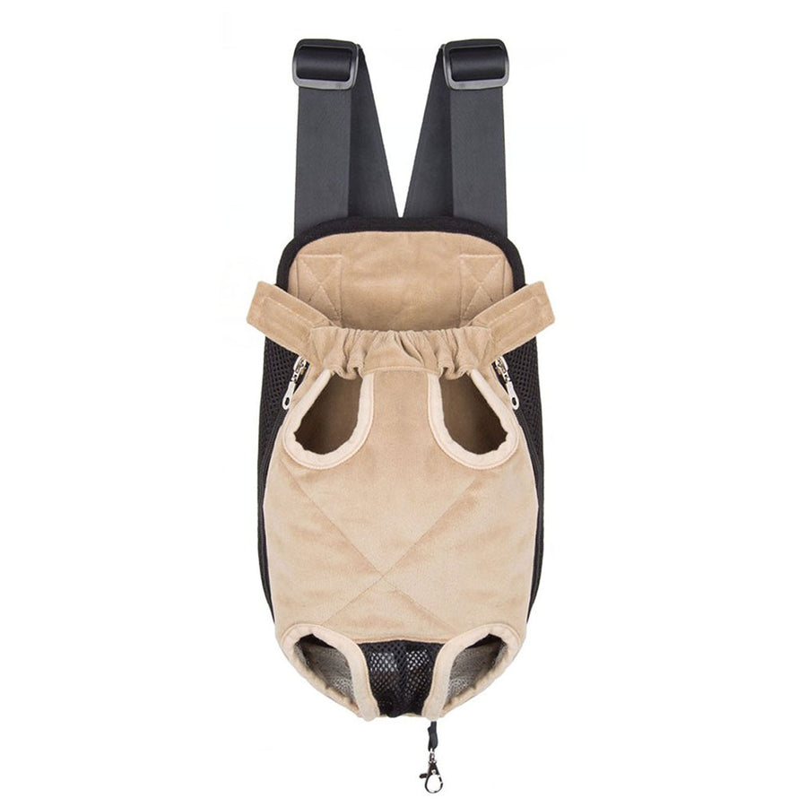 Qbleev warm dog backpack carrier beige