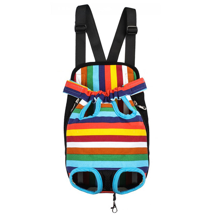 Qbleev dog backpack carrier rainbow