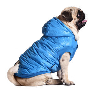 Outdoor Cotton Thickened Dog Jacket Soft Fleece Lining Windproof Dog Vest Pet Winter Coat