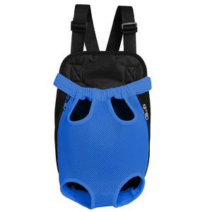Qbleev Mesh Dog Backpack Carrier Blue