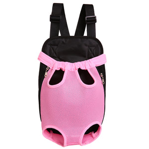 Qbleev Mesh Dog Backpack Carrier Pink