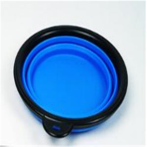 Collapsible Dog Bowl Blue Qbleev