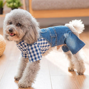 Dog Clothes Denim Leggings Pomeranian Puppies Four Feet Pet For Summer And Autumn