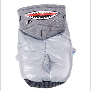 Pet Dog Shark Coat Jacket  Puppy Cat Hoodie Warm Hooded Costume Cartoon Clothes