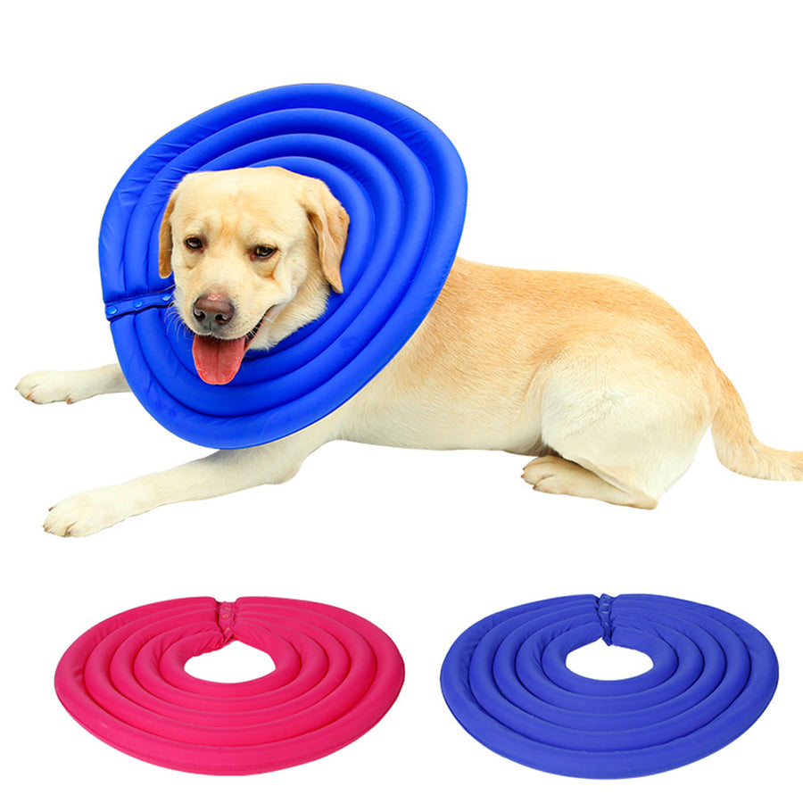 Qbleev lightweight foam dog recovery collar anti-bite and anti-lick