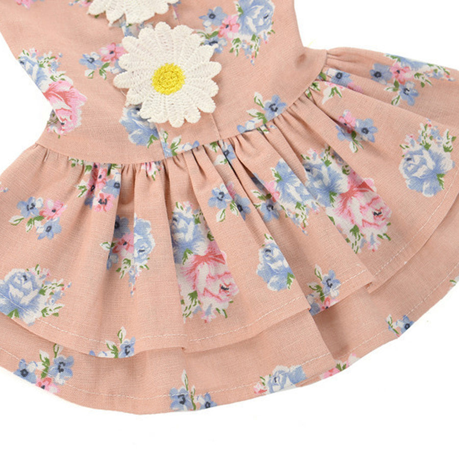Sun Flower Dog Dress QBLEEV
