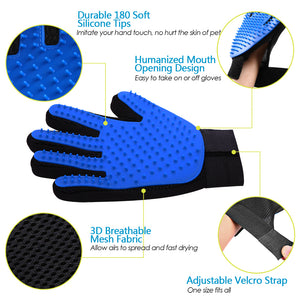 structure and feature of dog grooming glove