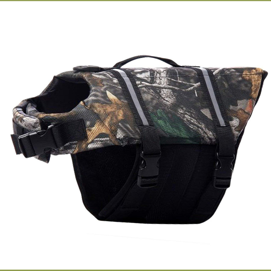 Dog Life Vest Reflective With Adjustable Belt in camouflage color