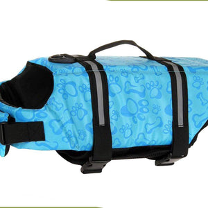 Dog Life Vest Reflective With Adjustable Belt in blue bone