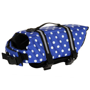 wave point print Dog Life Vest Reflective With Adjustable Belt