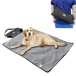 reversible dog mat black QBLEEV