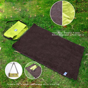 reversible dog mat green QBLEEV