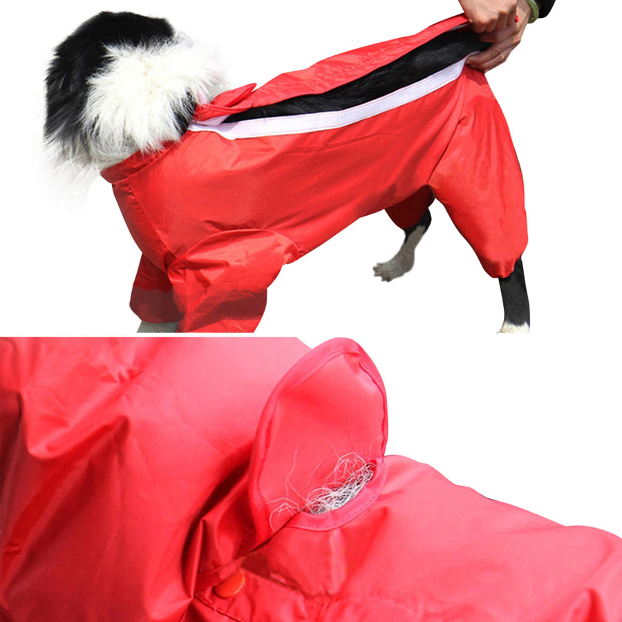 Pet Dog 100% Waterproof Fashionable And Lovely Wraps Legs Raincoat