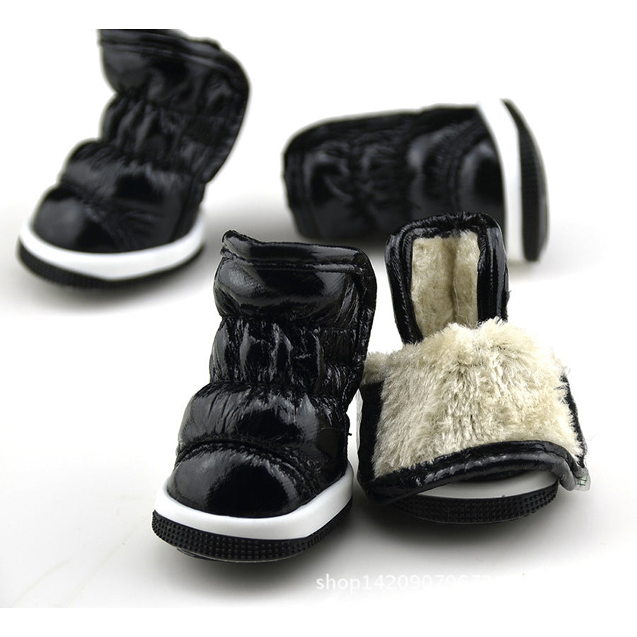 QBLEEV Dog Winter Boots black inside and outside