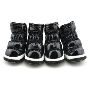 QBLEEV Dog Winter Boots black