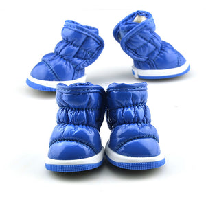 QBLEEV Dog Winter Boots blue