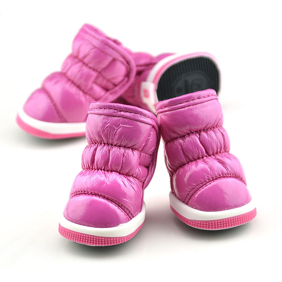 QBLEEV Dog Winter Boots pink