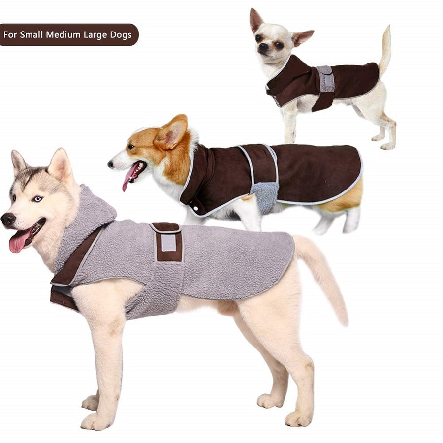 QBLEEV Reversible Warm Waterproof Pet Dog Coat Apparel