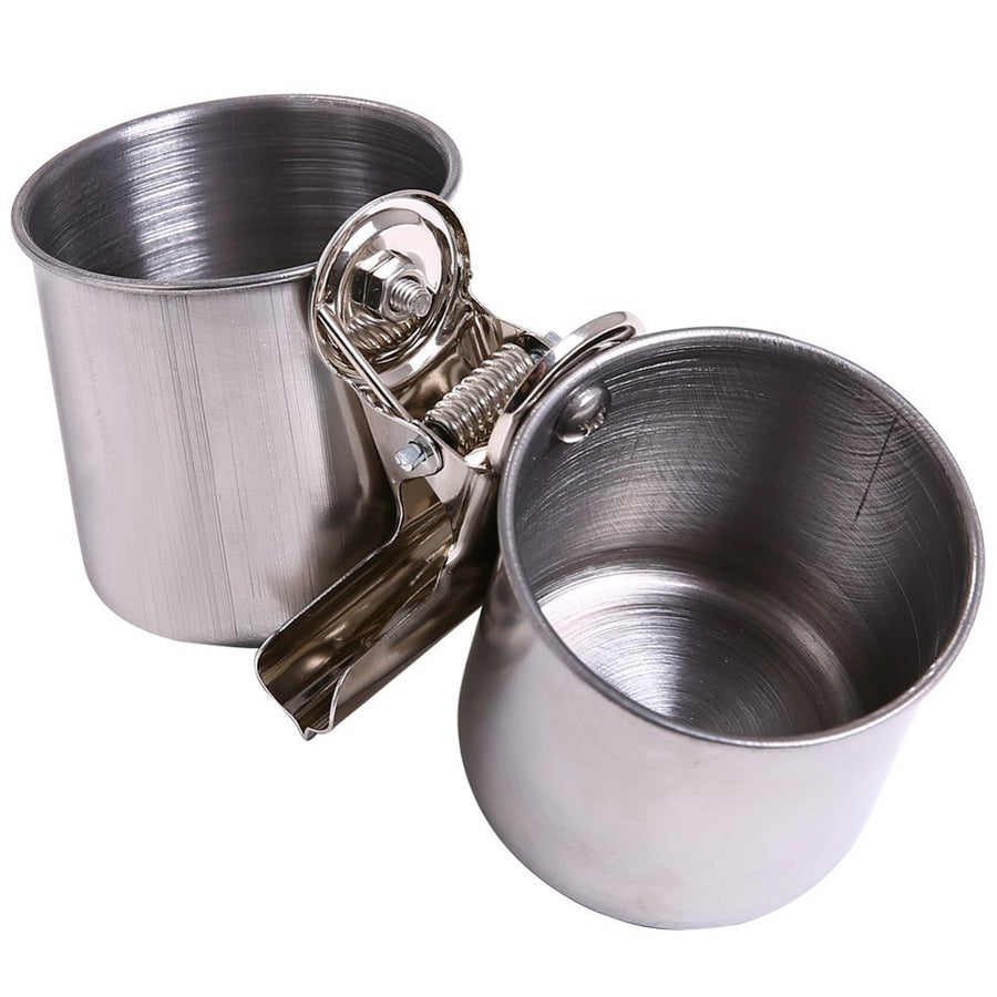 QBLEEV Stainless Steel Bird Feeder Cups