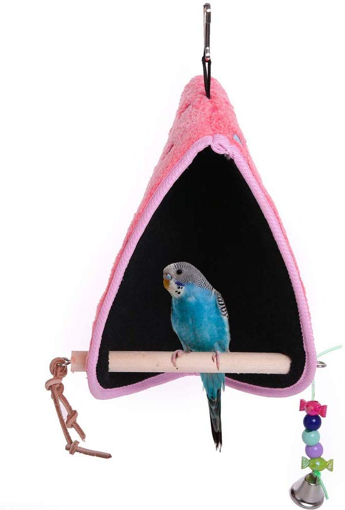 QBLEEV Parrot Playstand, Pink,Gray