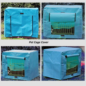 dog crate cover polyester blue QBLEEV