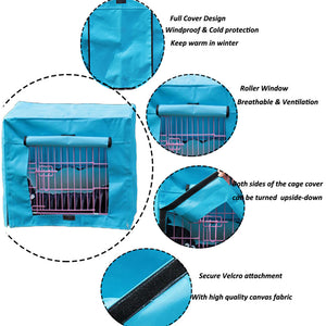 design of dog crate cover polyester blue QBLEEV