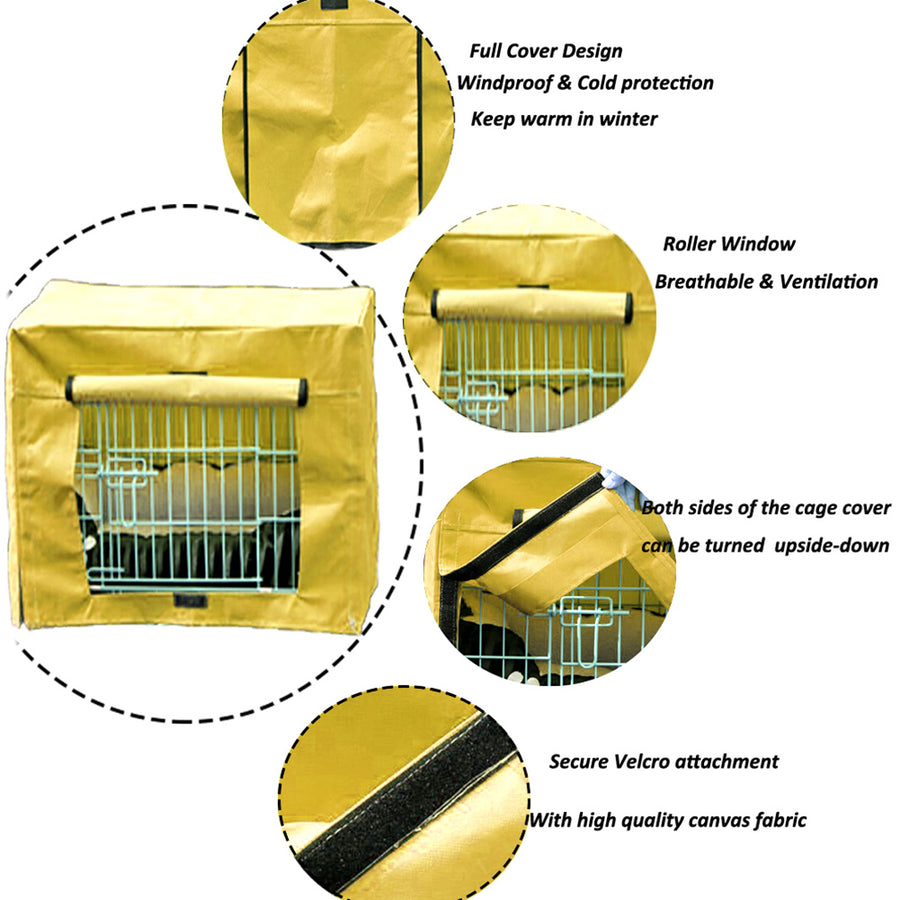 design of dog crate cover polyester yellow QBLEEV