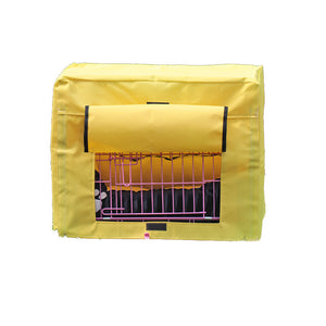 dog crate cover polyester yellow QBLEEV