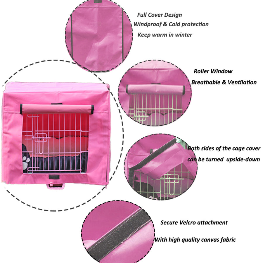design of dog crate cover polyester QBLEEV